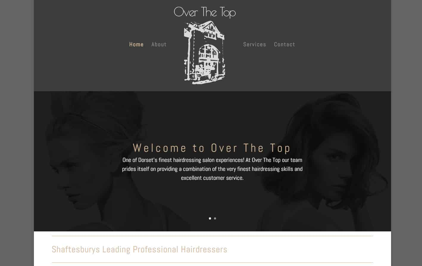 Example Website - Over The Top